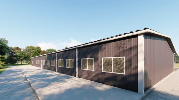 School metal building rendering 4