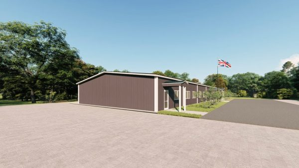 School metal building rendering 5