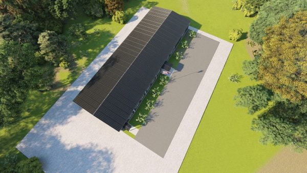 School metal building rendering 6