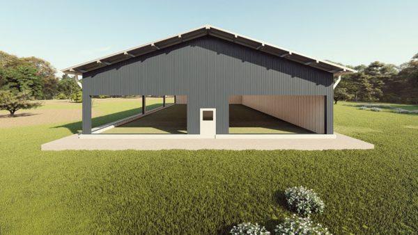 Sports facilities metal building rendering 1