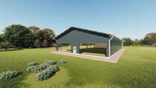 Sports facilities metal building rendering 2