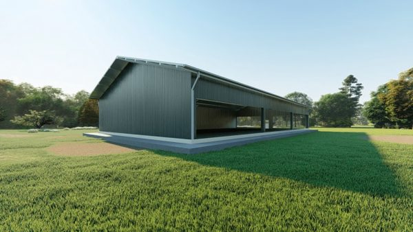 Sports facilities metal building rendering 4