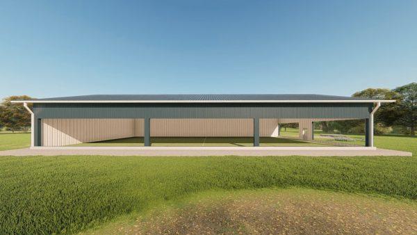 Sports facilities metal building rendering 5