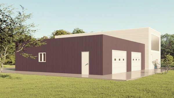 Storage metal building rendering 1