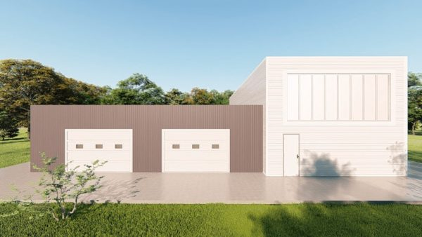 Storage metal building rendering 2