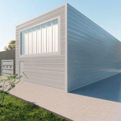 Storage metal building rendering 3