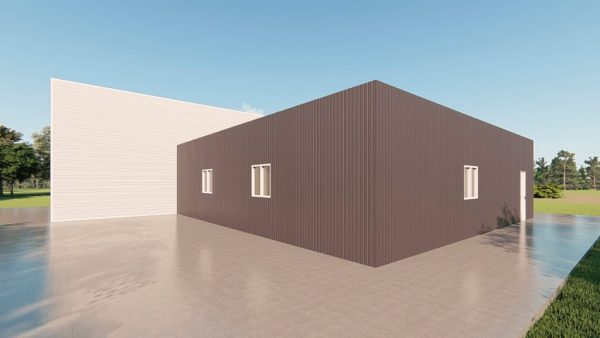 Storage metal building rendering 4