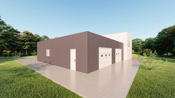 Storage metal building rendering 5