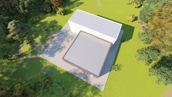 Storage metal building rendering 6