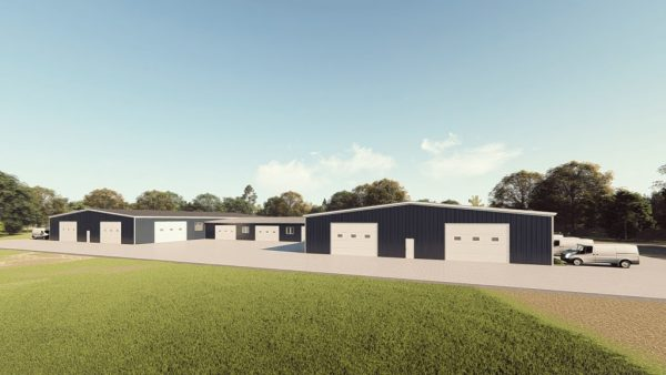 Warehouses metal building rendering 1