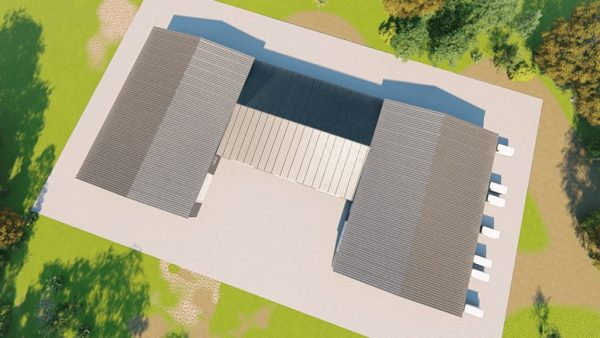 Warehouses metal building rendering 6