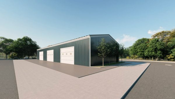 Workshop metal building rendering 2 1