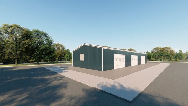 Workshop metal building rendering 3 1