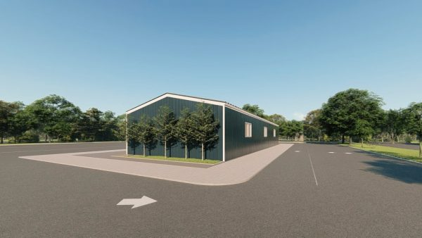 Workshop metal building rendering 5 1