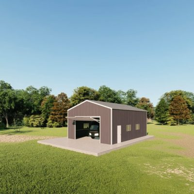 rv garages 26x36 metal building rendering 3