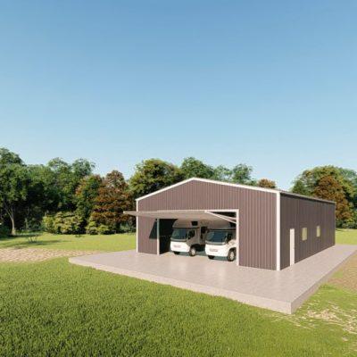 rv garages 40x60 metal building rendering 3