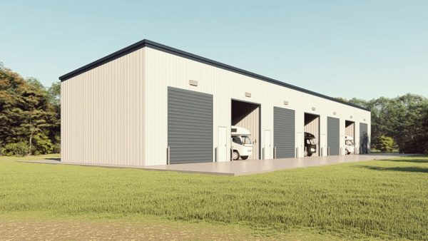 rv storage 40x200 enclosed metal building rendering 1