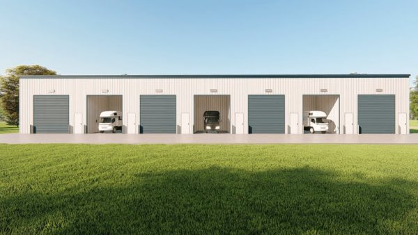 rv storage 40x200 enclosed metal building rendering 5