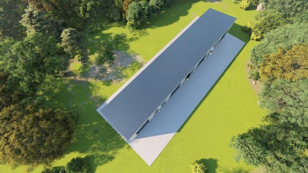 rv storage 40x200 enclosed metal building rendering 6