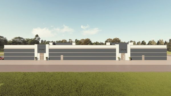 strip mall metal building rendering 1