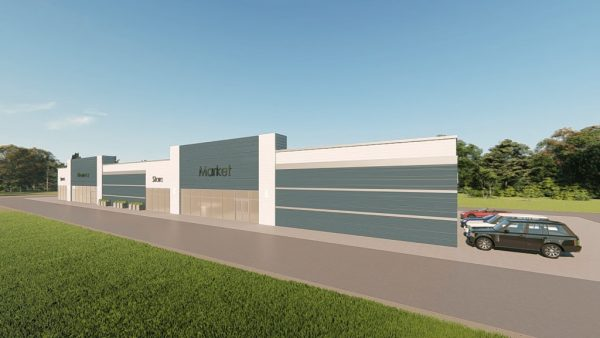 strip mall metal building rendering 2