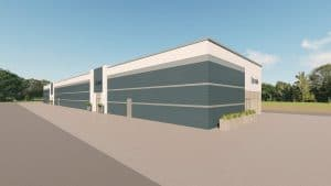 strip mall metal building rendering 4