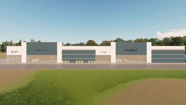 strip mall metal building rendering 5