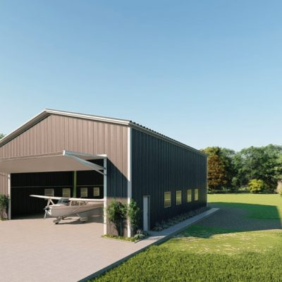Aircraft hangars 50x60 hangar metal building rendering 3
