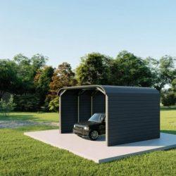 Carports 12x20 tube frame metal building rendering 3