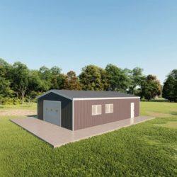 Garages 24x36 garage metal building rendering 3