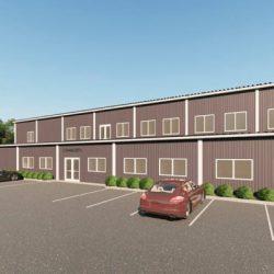 Gymnasiums metal building rendering 5