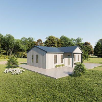 Houses 20x35 home metal building rendering 3