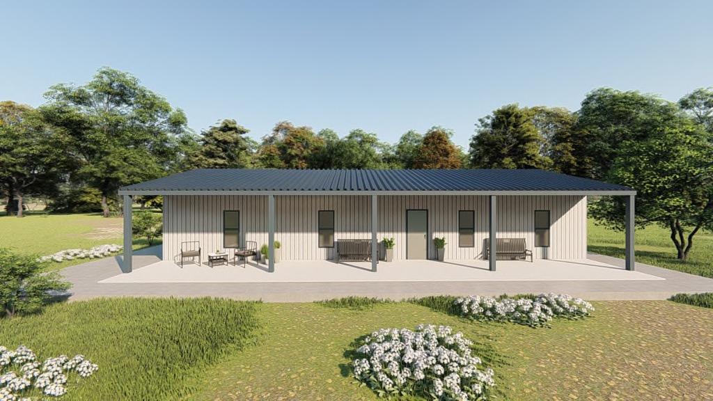 Houses 30x50 home metal building rendering 5