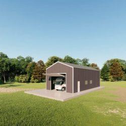 rv garages 24x48 metal building rendering 3